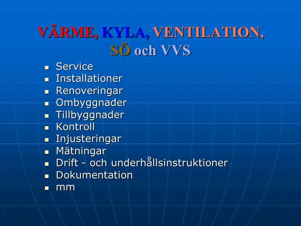 AB Värme & Kyl Proffsen Sweden Besitter teoretiska och praktiska Kunskaper som grundar sig på många års Erfarenheter under de senaste 20 åren som beställare och konsult/entreprenör.