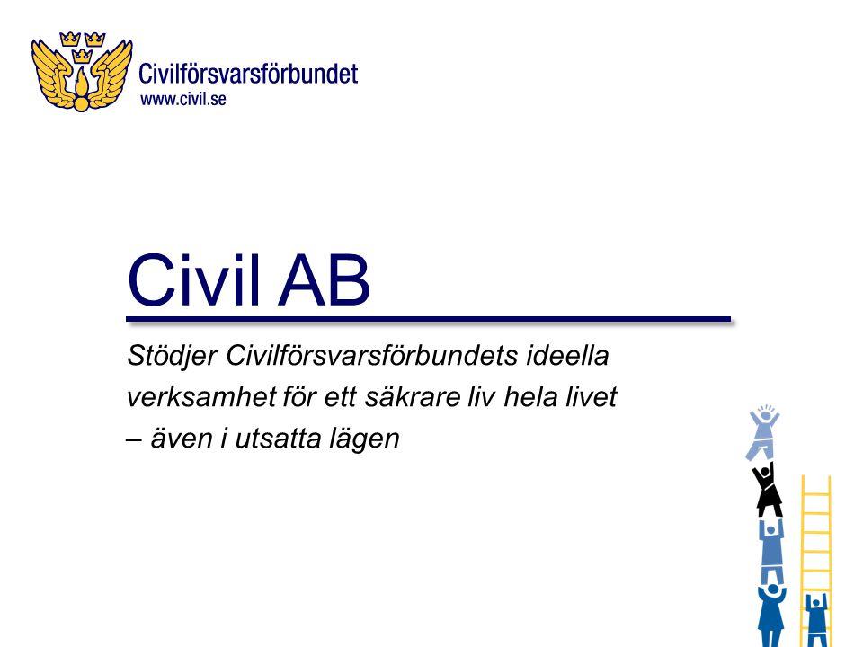 Civil AB Stödjer Civilförsvarsförbundets ideella verksamhet för ett säkrare liv hela livet – även i utsatta lägen