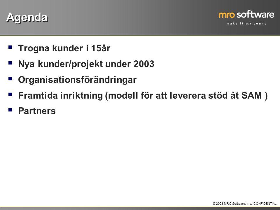 © 2003 MRO Software, Inc.CONFIDENTIAL Varför skall man då använda Solution Components .