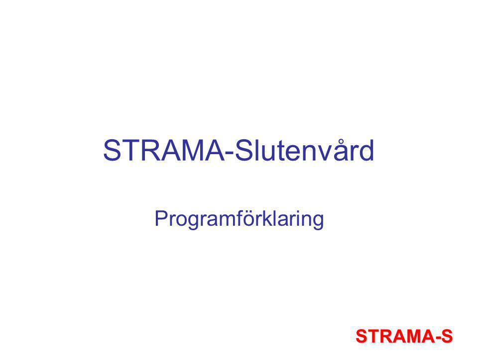 STRAMA-Slutenvård Verkar för rationell antibiotika användning och minskad resistens inom slutenvården, som ett led i förbättrad patientsäkerhet och vårdkvalitet STRAMA-S