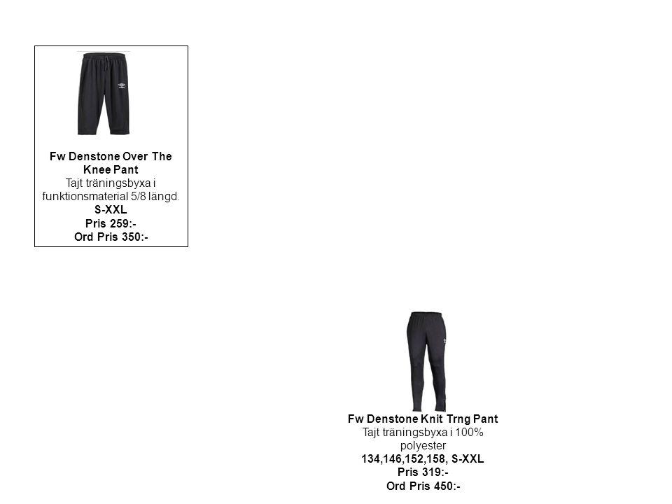 Fw Denstone Over The Knee Pant Tajt träningsbyxa i funktionsmaterial 5/8 längd. S-XXL Pris 259:- Ord Pris 350:- Fw Denstone Knit Trng Pant Tajt tränin