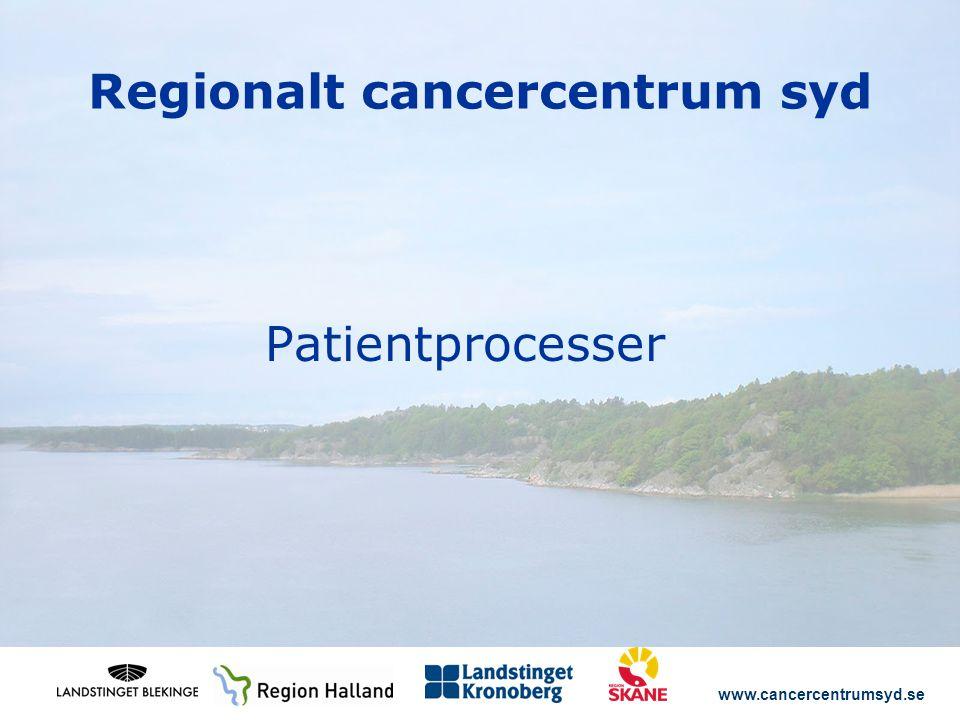 www.cancercentrumsyd.se Regionalt cancercentrum syd Patientprocesser