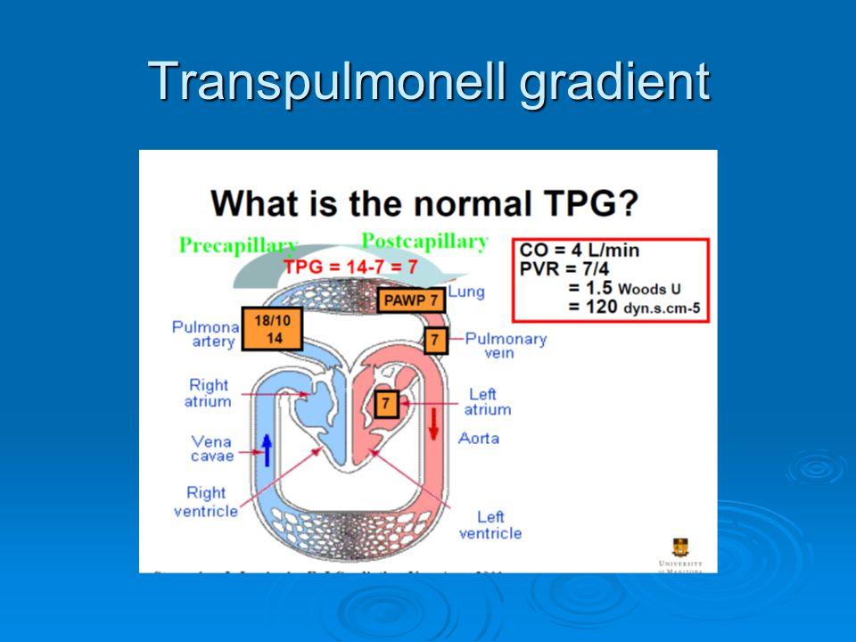 Definitioner hemodynamiska vs WHO  Prekapillär (mPAP >25mmHg, normal PCWP 3 Wood units, TPG > 12-15mmHg  Postkapillär (mPAP > 25 mmHg, PCWP >15 mmHg, normalt PVR, TPG 25 mmHg, PCWP >15 mmHg, normalt PVR, TPG <12mmHg  Mixed PH ( PCWP > 15, PVR > 3 Wood units TPG >12-15 mmHg  1.