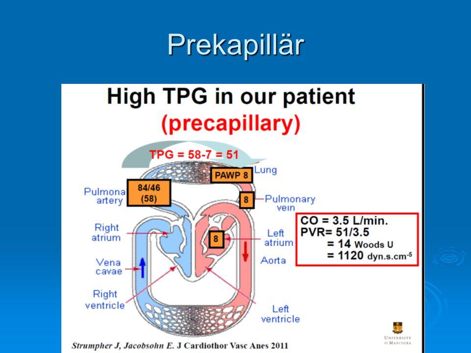Anestesi   N20, ketamin  ökar PVR  bör undvikas   Inhalationsanestetika  myocarddepression + vasodilatation   Pento/propofol  myocarddepression + vasodilatation   Högdos opiat  sänt sympatikus ton + bradycardi   Etmoidat  Bra, ingen effekt på PVR,kontraktilitet eller SVR