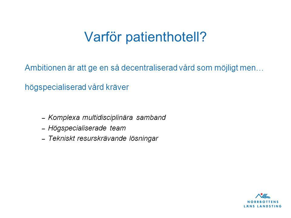 Varför patienthotell.