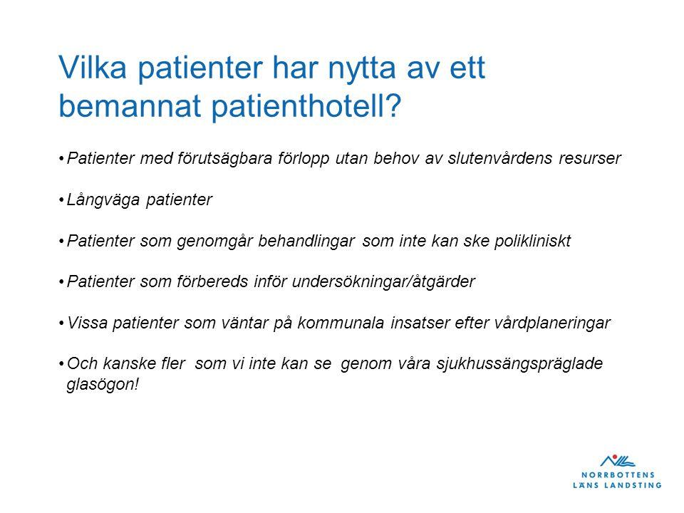 Vilka patienter har nytta av ett bemannat patienthotell.