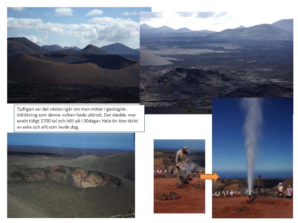 Tydligen var det nästan igår om man mäter i geologisk- tidräkning som denna vulkan hade utbrott. Det skedde mer exakt tidigt 1700 tal och höll på i 30