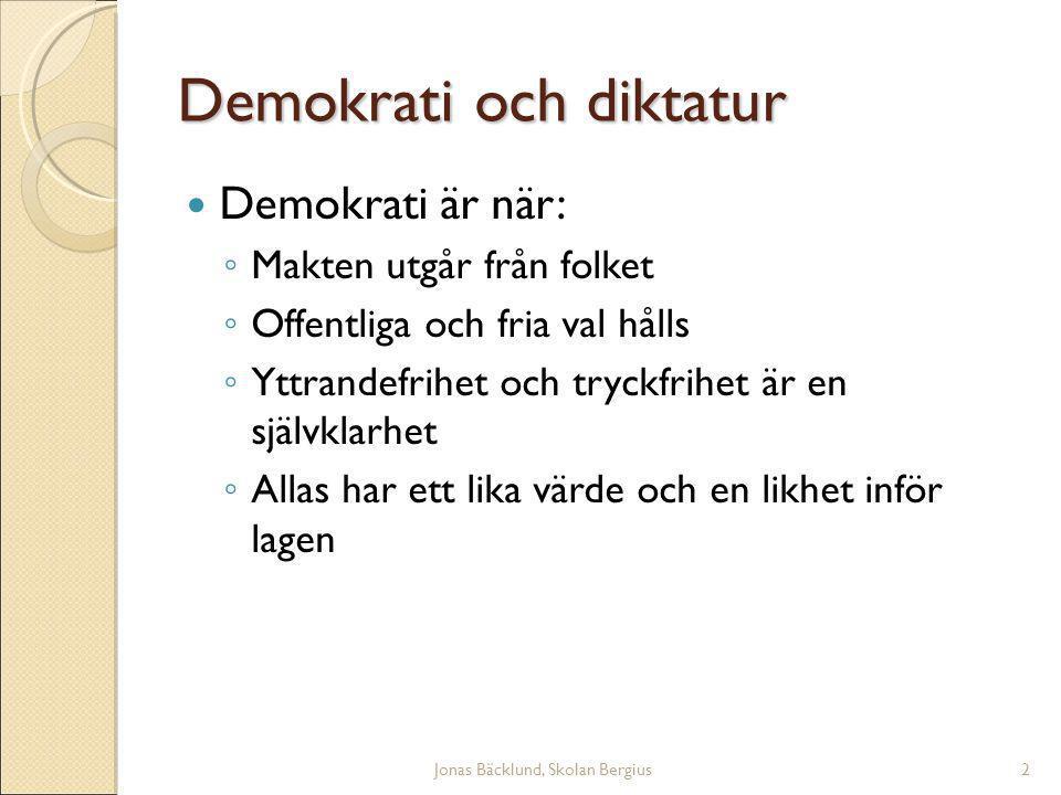 Jonas Bäcklund, Skolan Bergius23 Kongressen Senaten ◦ 100 platser ◦ Mandatperiod 6 år ◦ Val till 1/3 av senaten hålls vartannat år.