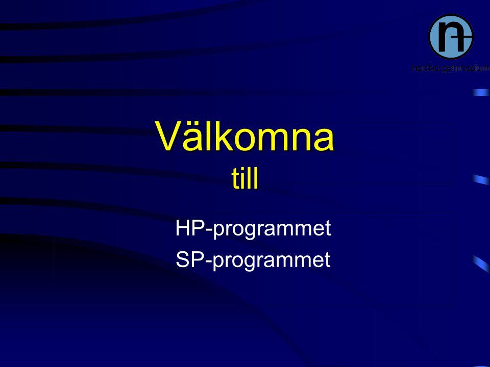 Välkomna till HP-programmet SP-programmet