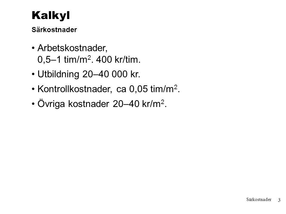4 Kalkylmodell Modellen finns som exelblad och kan laddas ner från www.sp. se