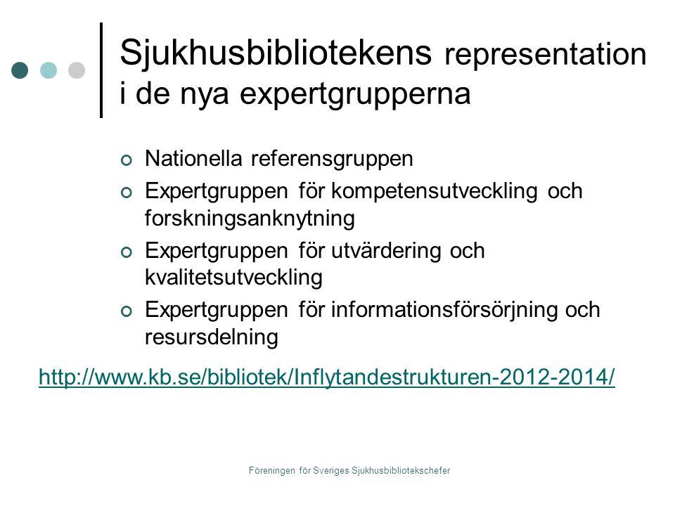 Föreningen för Sveriges Sjukhusbibliotekschefer Vad ska vi syssla med.
