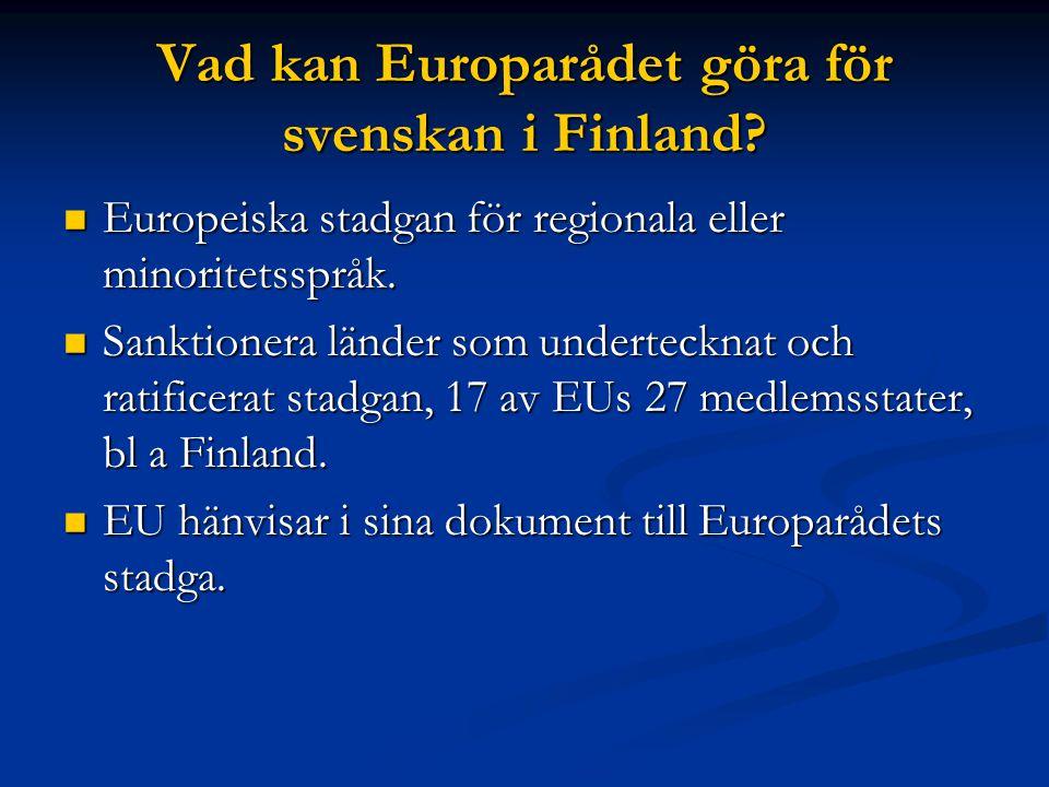 Svenskan i Finland Anspråkslösheten är både vår svaghet och styrka i ett europeiskt perspektiv.