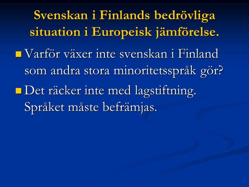 Svenskan i Finland Minskningen har varit ännu mer dramatisk i städerna.