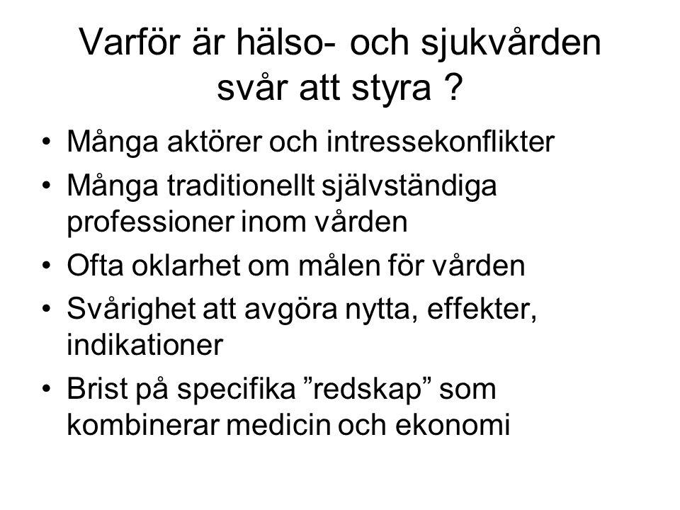 Ni är nyckelmedarbetarna Hur ser ni på er klinik (arbetsplats), på regionen/landstinget, på den svenska sjukvården .