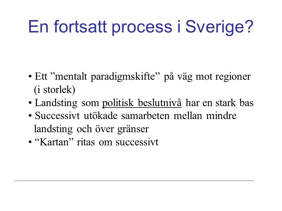 En fortsatt process i Sverige.