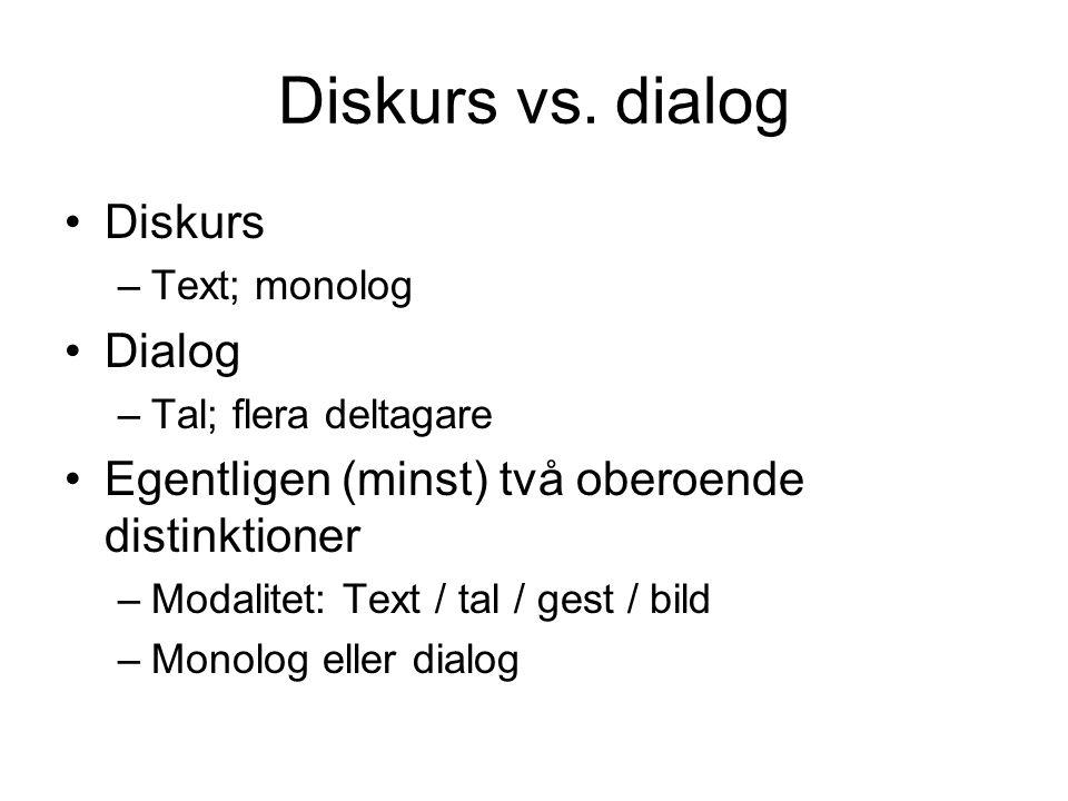 Diskurs vs.