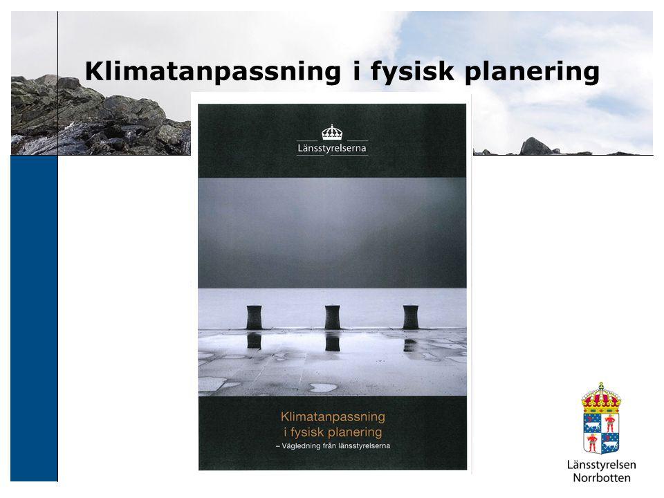 Klimatanpassning i fysisk planering