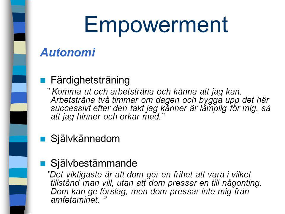 """Empowerment Autonomi Färdighetsträning """" Komma ut och arbetsträna och känna att jag kan. Arbetsträna två timmar om dagen och bygga upp det här success"""
