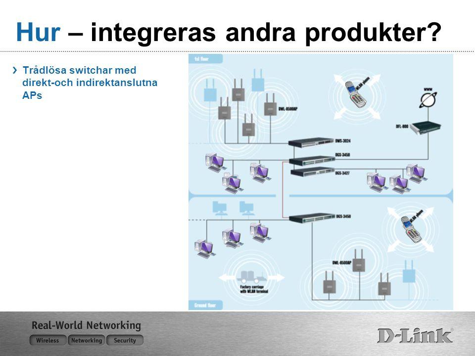 Hur – integreras andra produkter? Trådlösa switchar med direkt-och indirektanslutna APs