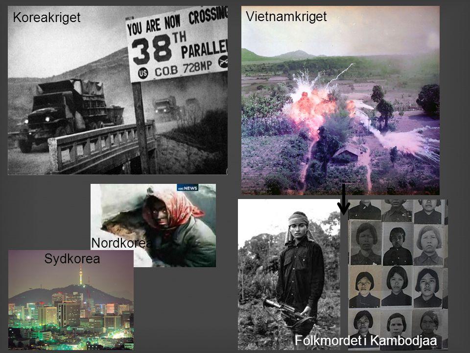 Nordkorea Sydkorea Koreakriget Vietnamkriget Folkmordet i Kambodjaa