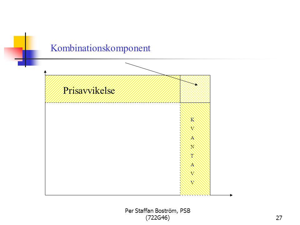 Per Staffan Boström, PSB (722G46)27 Prisavvikelse KVANTAVVKVANTAVV Kombinationskomponent