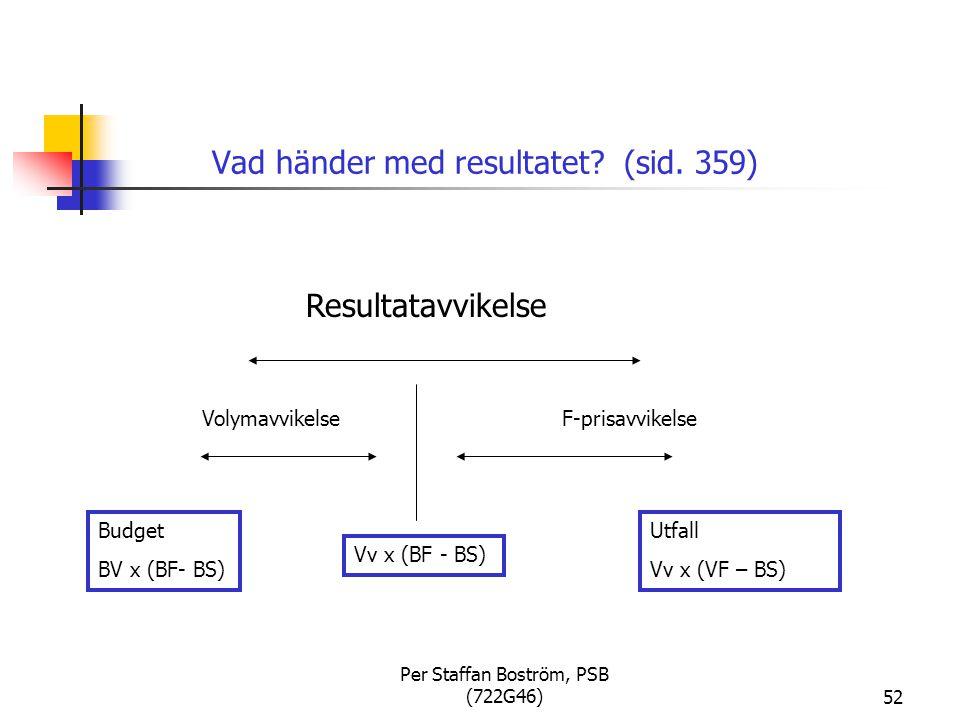 Per Staffan Boström, PSB (722G46)52 Vad händer med resultatet.