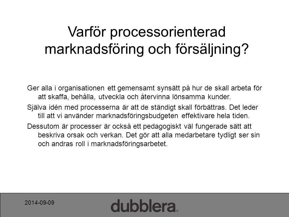 2014-09-09 Varför processorienterad marknadsföring och försäljning.
