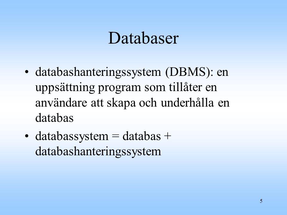 6 Bioinformatik Kända sekvenser samlas i en stor databas.