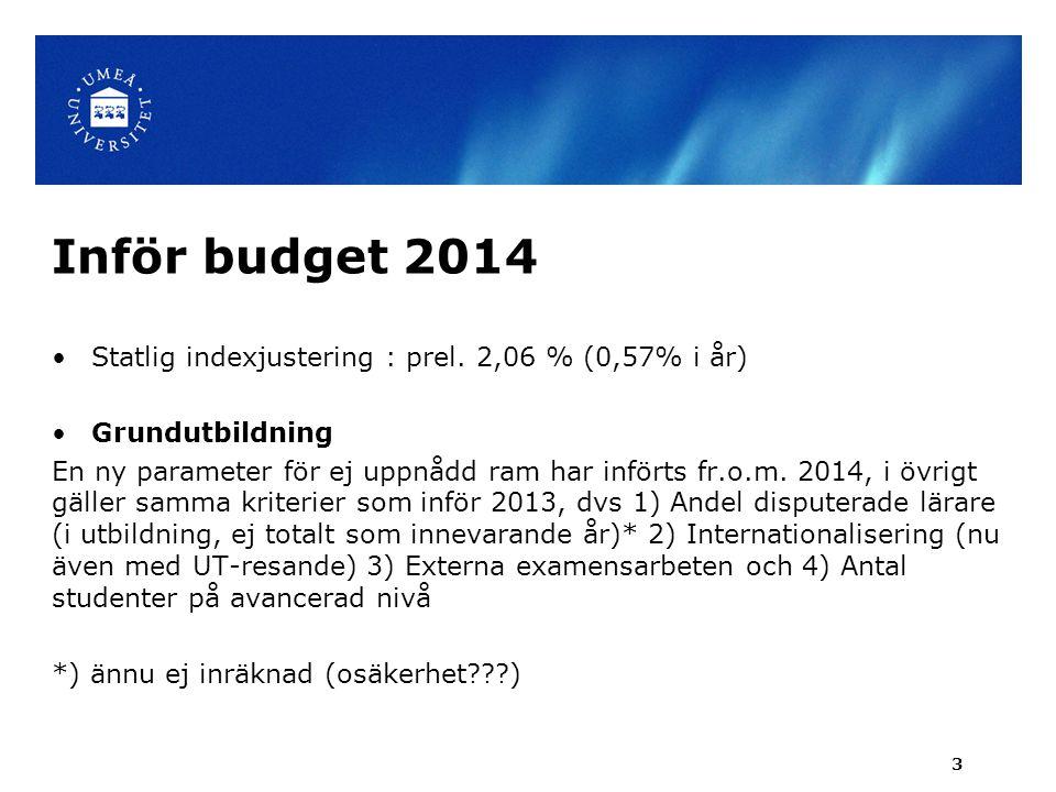 Inför budget 2014: Prel.GU-ramar 2014, mnkr 2014Jmf 2013Förändr.