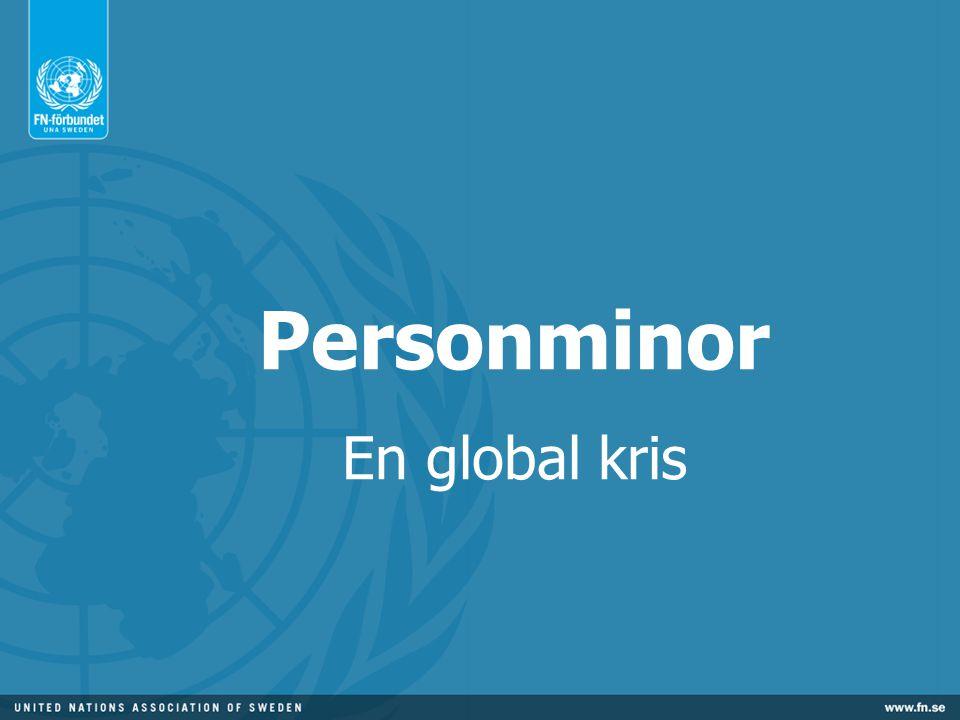 Den globala minsituationen 80 miljoner minor i 70 länder 20 000 minoffer per år En olycka med minor varje halvtimme 9 av 10 minoffer är civila Landminor omflyttar hela samhällen