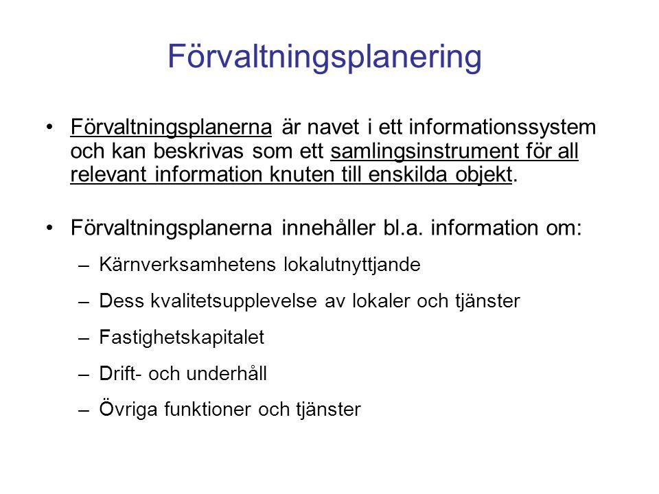 Förvaltningsplanerna är navet i ett informationssystem och kan beskrivas som ett samlingsinstrument för all relevant information knuten till enskilda