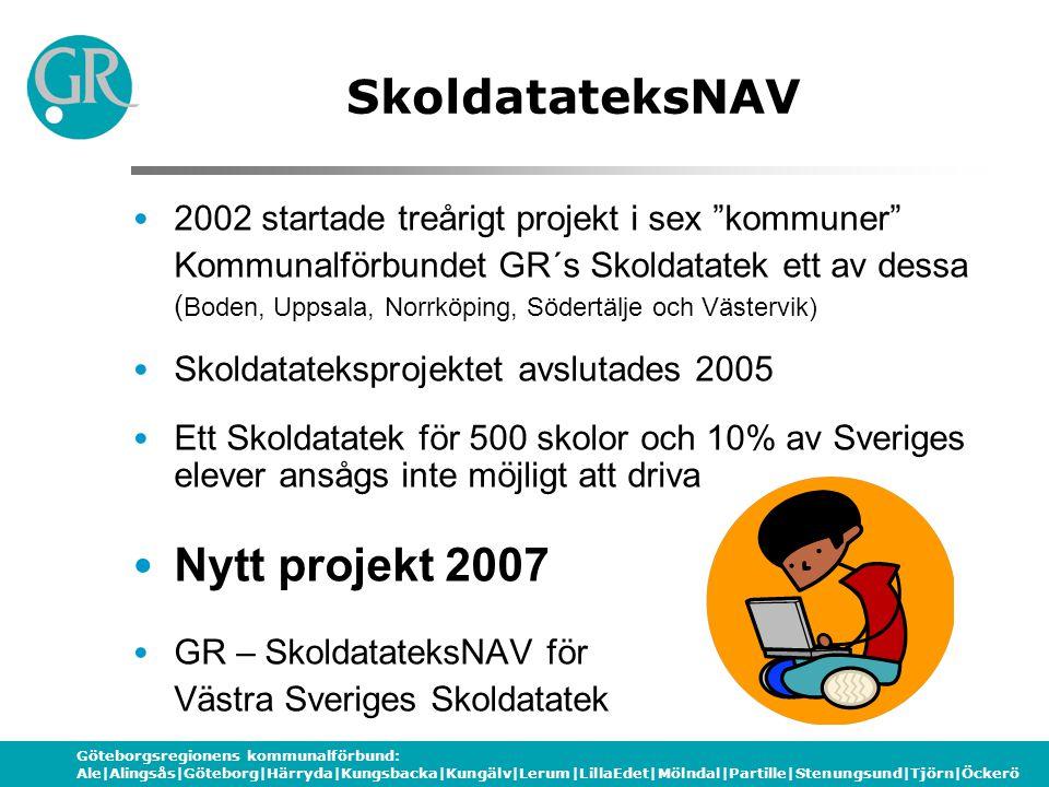 Göteborgsregionens kommunalförbund: Ale|Alingsås|Göteborg|Härryda|Kungsbacka|Kungälv|Lerum|LillaEdet|Mölndal|Partille|Stenungsund|Tjörn|Öckerö Vad är ett skoldatatek.