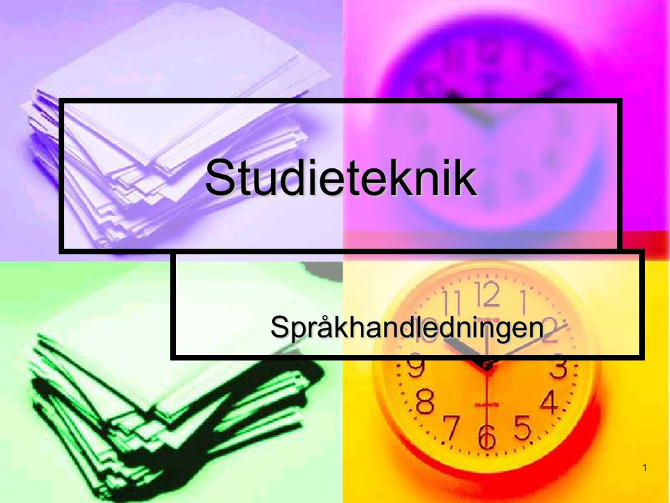1 Studieteknik Språkhandledningen