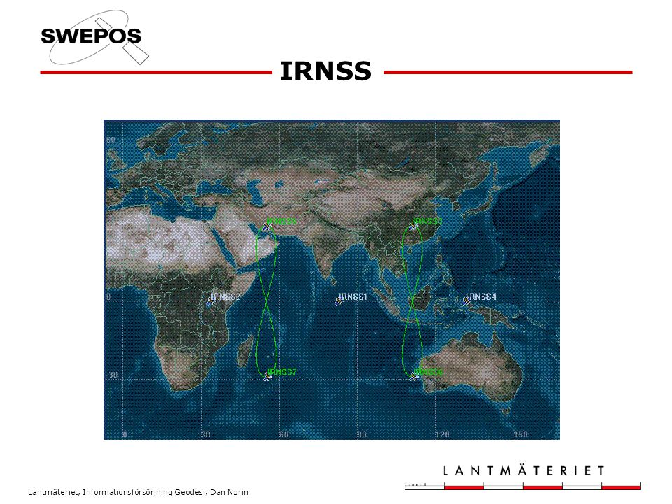 Lantmäteriet, Informationsförsörjning Geodesi, Dan Norin IRNSS