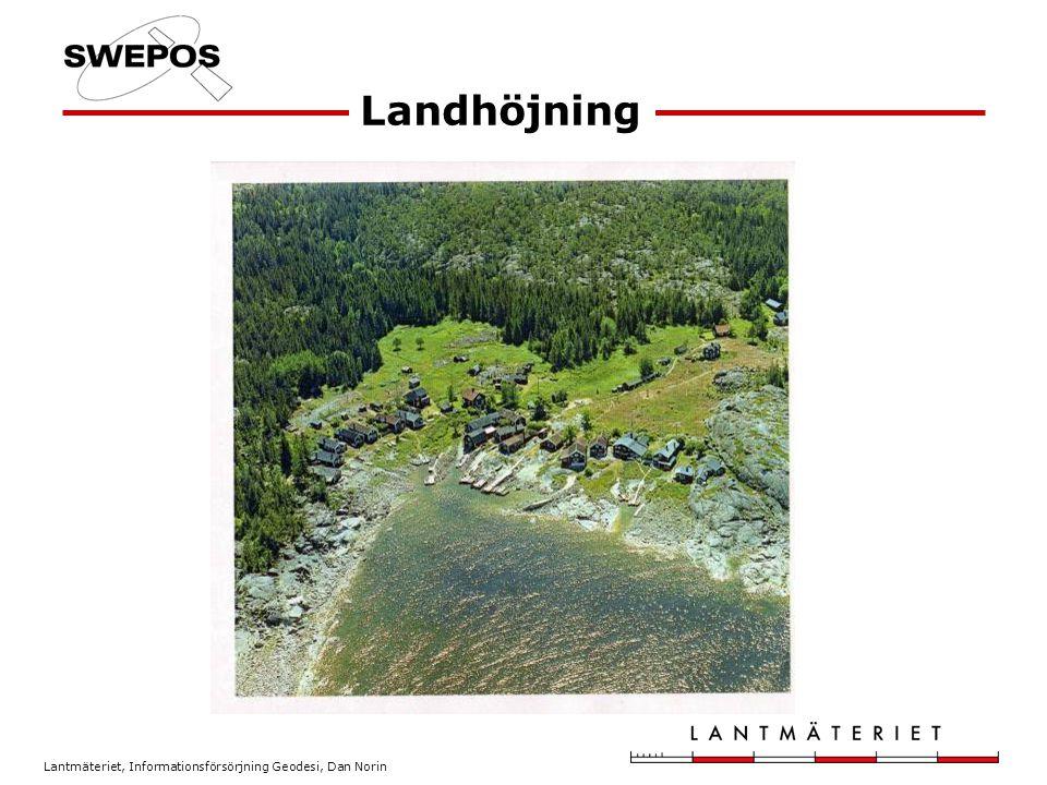 Lantmäteriet, Informationsförsörjning Geodesi, Dan Norin Landhöjning
