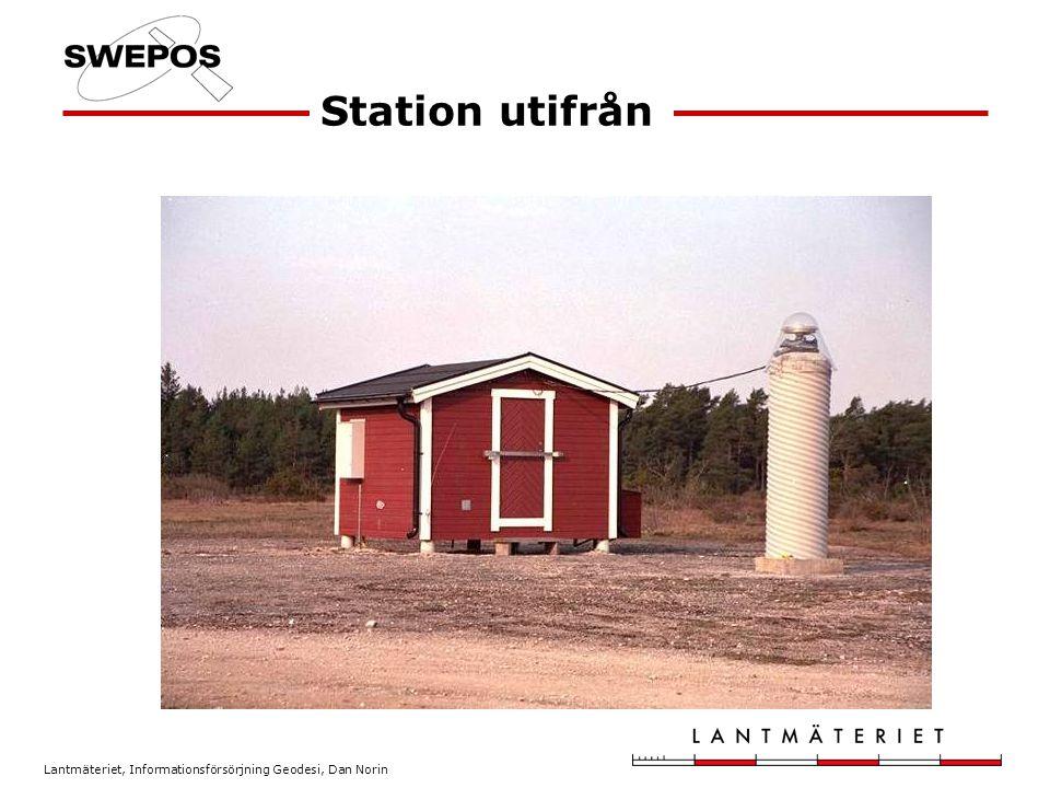 Lantmäteriet, Informationsförsörjning Geodesi, Dan Norin Station utifrån