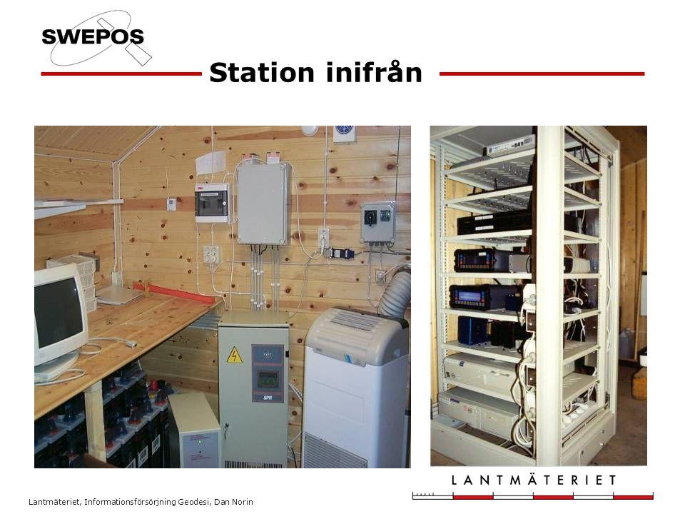 Lantmäteriet, Informationsförsörjning Geodesi, Dan Norin Station inifrån