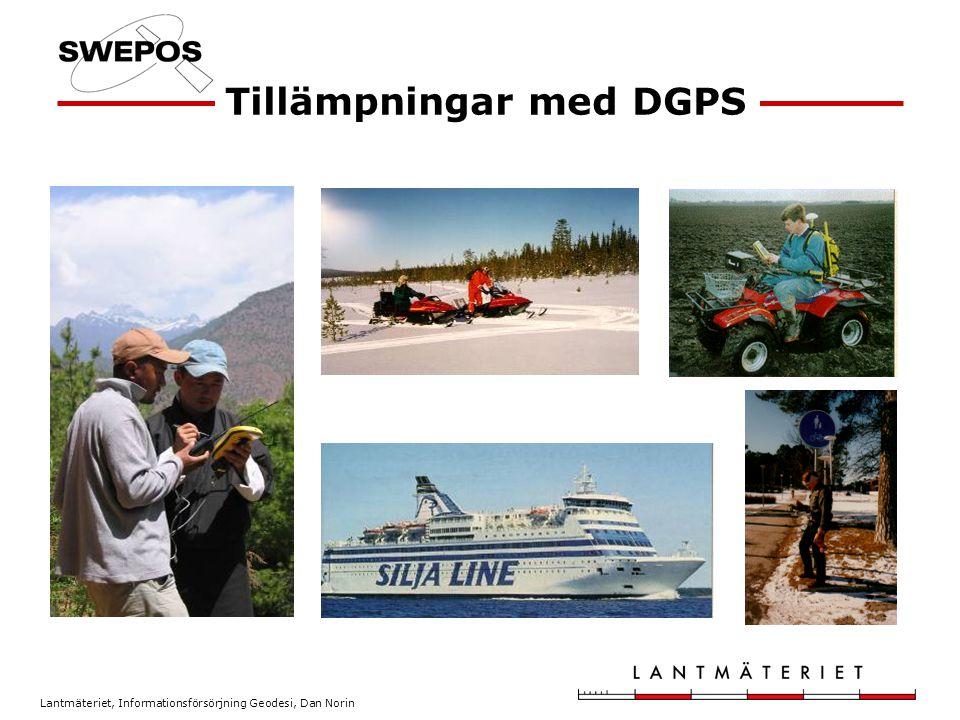 Lantmäteriet, Informationsförsörjning Geodesi, Dan Norin Tillämpningar med DGPS