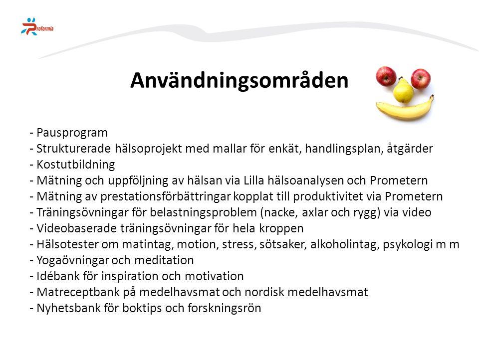 MOTSTÅNDS- KRAFT PRESS Prestation Hälsa LivsstilBelastning Hälsa och produktivitet Prometern