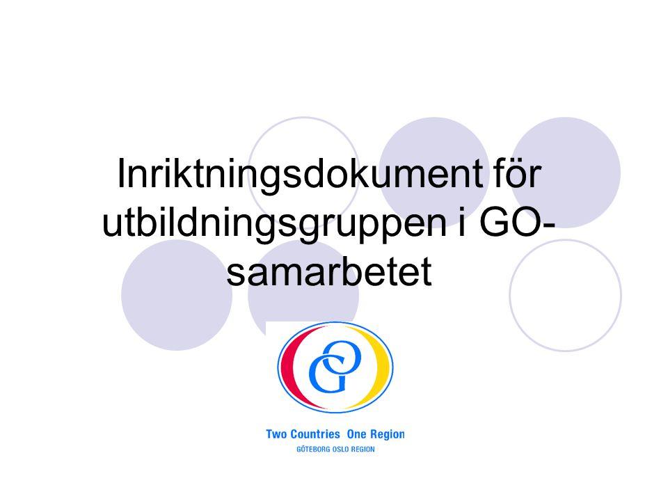 Inriktningsdokument för utbildningsgruppen i GO- samarbetet