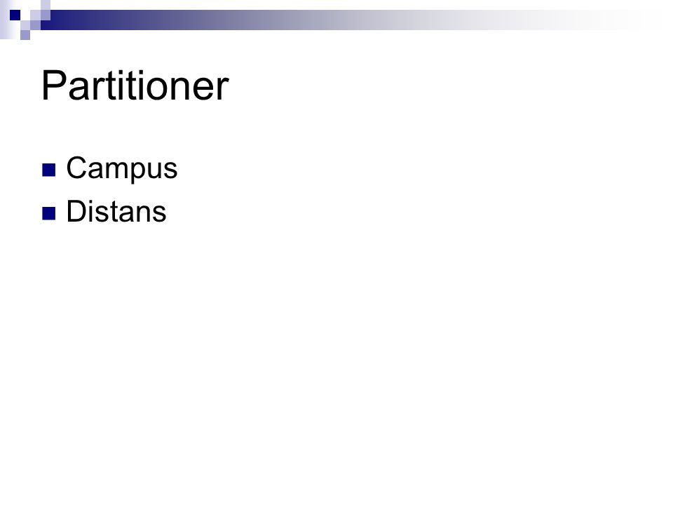 Partitioner Campus Distans