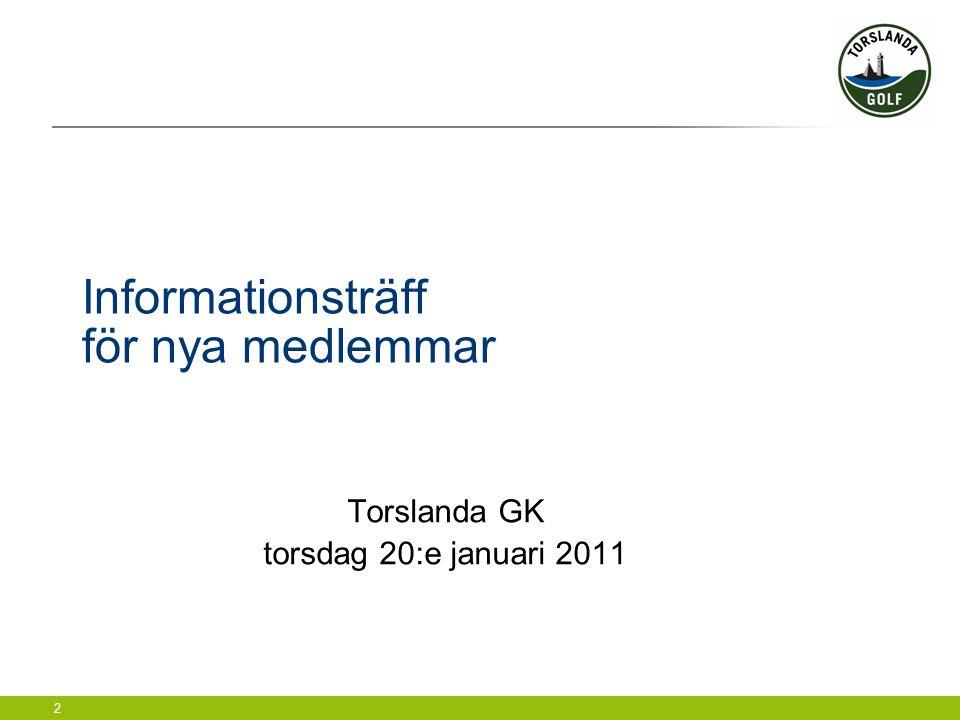 3 Agenda  Introduktion  Information om klubben och banan  Vad händer 2011.