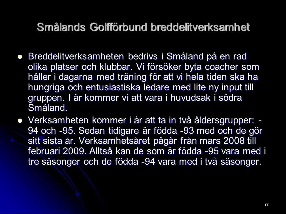 Breddelitverksamheten bedrivs i Småland på en rad olika platser och klubbar.