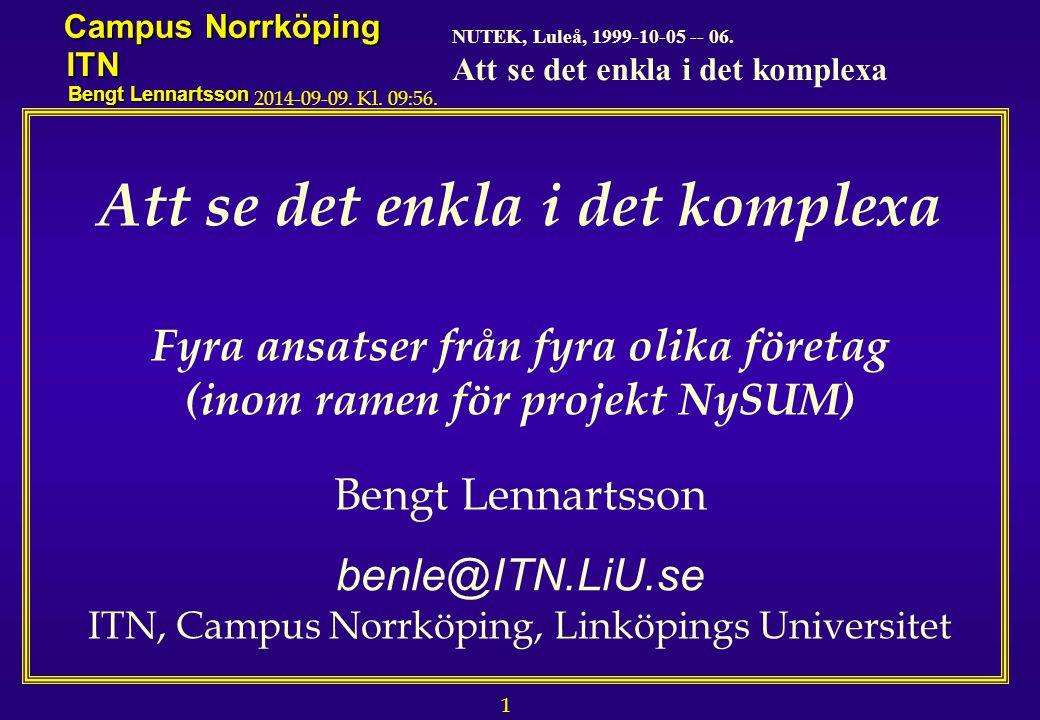 1 NUTEK, Luleå, 1999-10-05 -- 06.