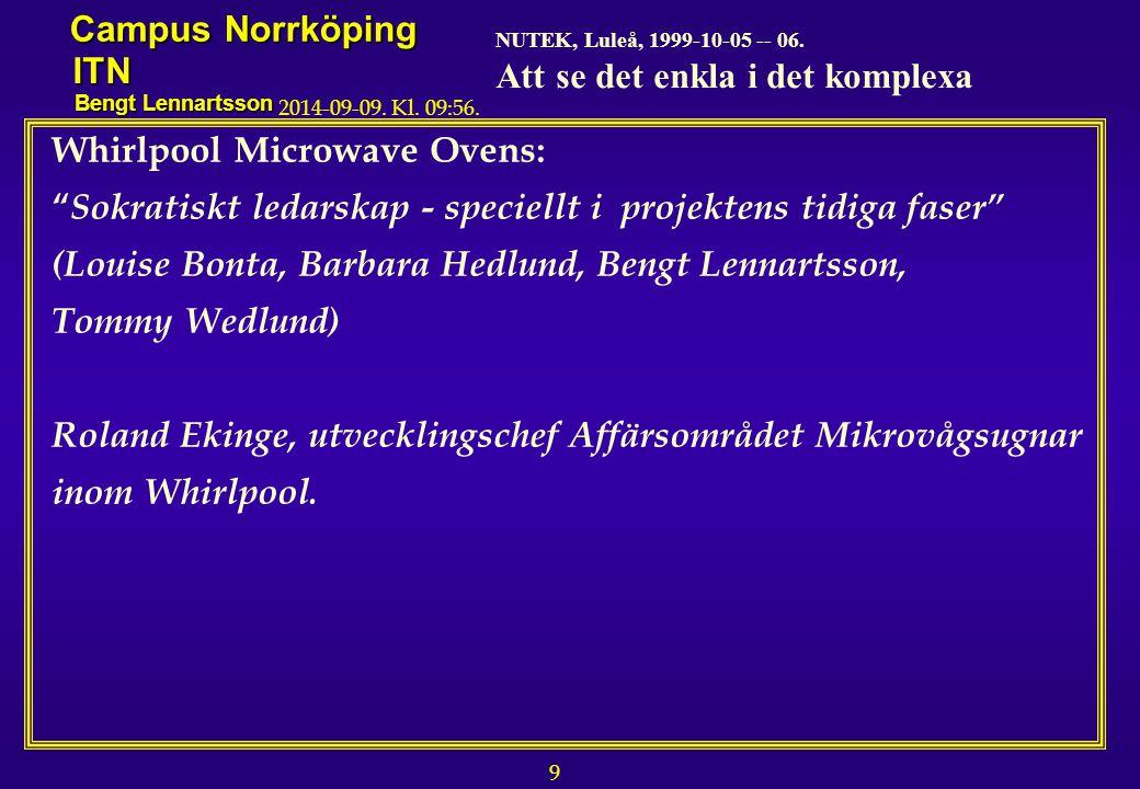 9 NUTEK, Luleå, 1999-10-05 -- 06.