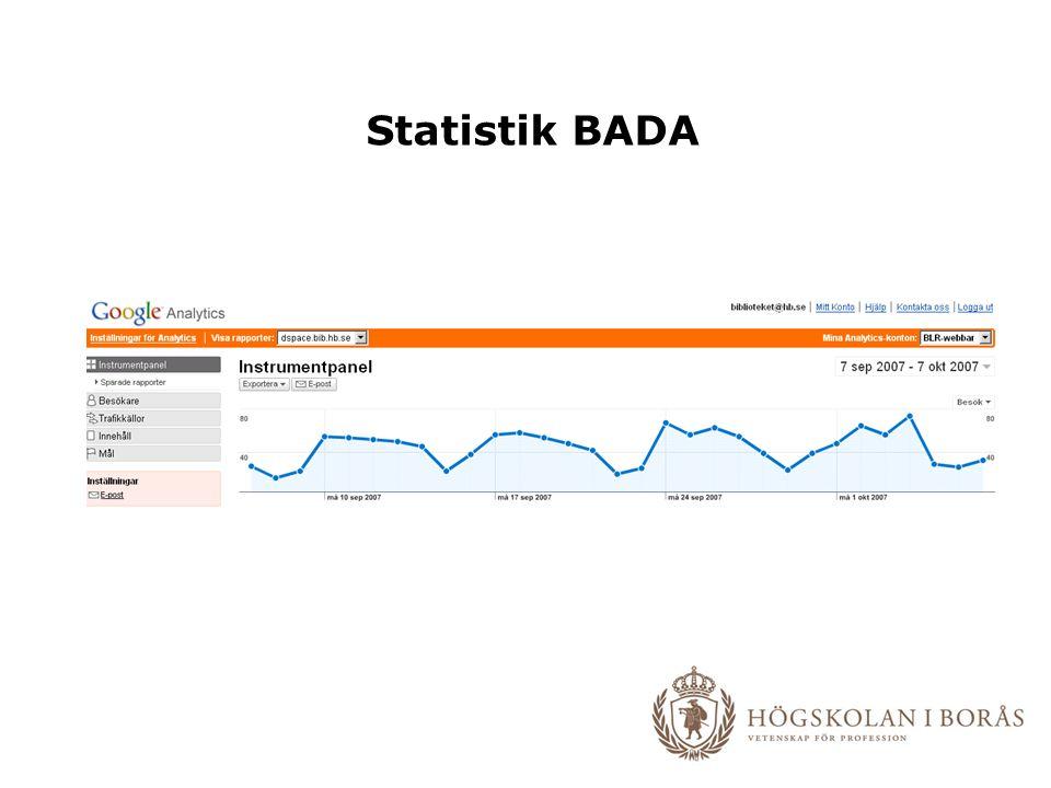 Statistik BADA