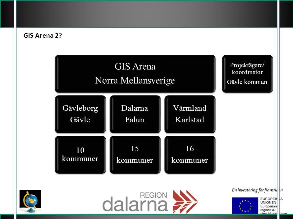 8 GIS Arena 2? Projektägare/ koordinator Gävle kommun