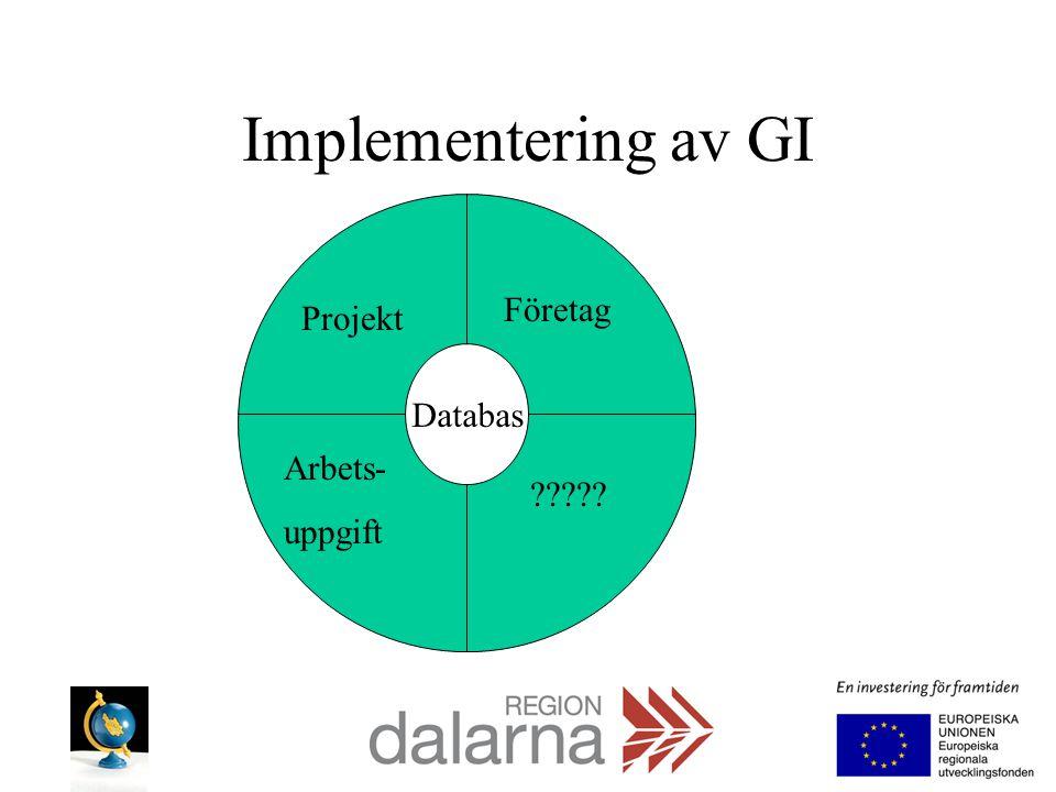 Implementering av GI Databas Projekt Arbets- uppgift Företag ?????
