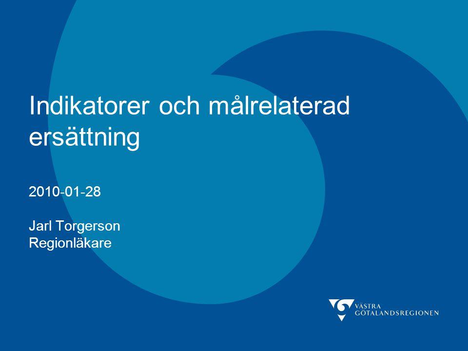 Indikatorer och målrelaterad ersättning 2010-01-28 Jarl Torgerson Regionläkare