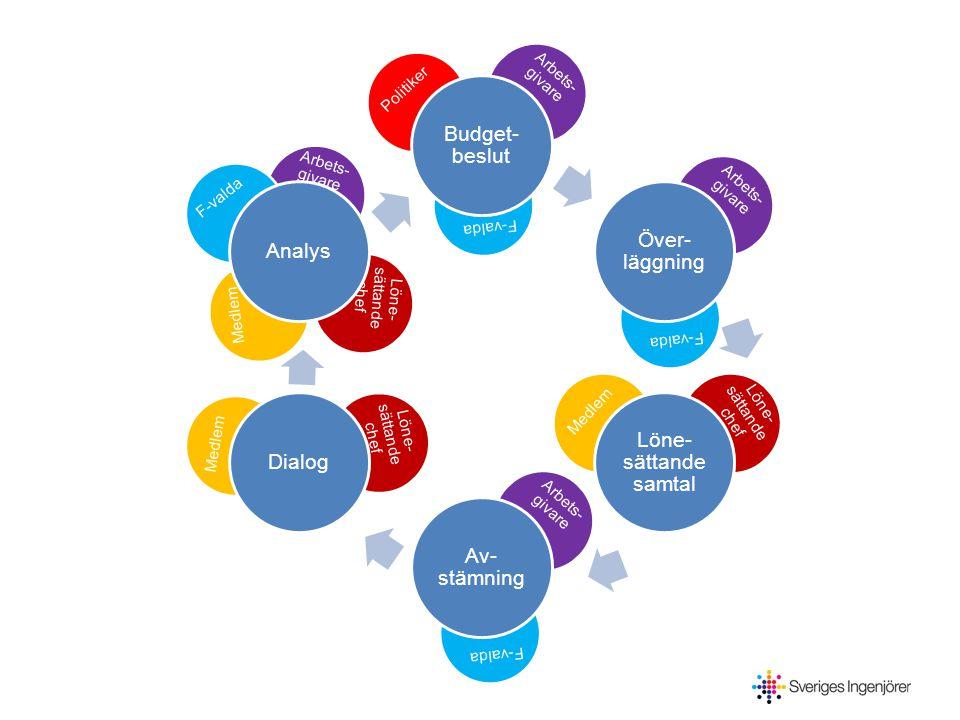 Budget- beslut Över- läggning Löne- sättande samtal Av- stämning DialogAnalys Arbets- givare F-valda Avstämning